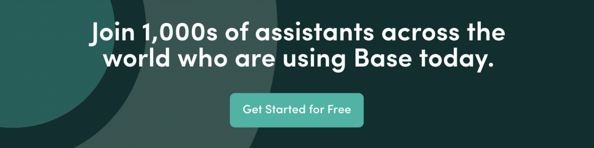 Professional development for executive assistants using Base